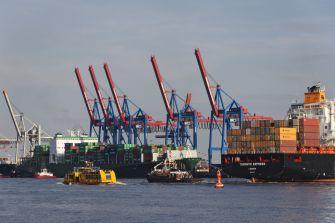 Hamburger Hafen. Container-Termina