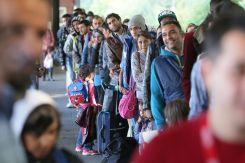 Flüchtlinge am Flensburger Bahnhof