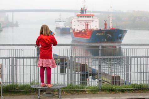 Schleusenbereich des Nord-Ostsee-Kanal