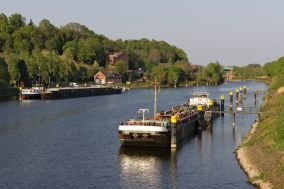 Lauenburg an der Elbe. Der Elbe-Lübeck-Kanal