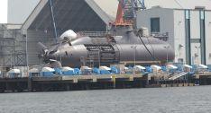 Im Bau befindliches U-Boot der Dolphin-Klasse auf dem Gelaende der Howaldtswerke-Deutsche Werft (HDW) GmbH in Kiel