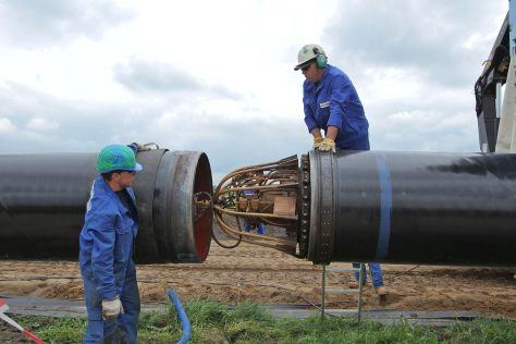 Bau einer Pipeline zwischen Ellund und Fockbek