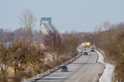 Brücke im Verlauf der B5 bei Brunsbüttel