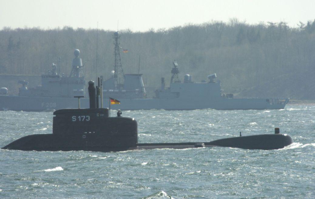 Manöver European Challenge 2005, Teilstreitkräfte Marine der Bundeswehr in Eckernförde, U-Boot