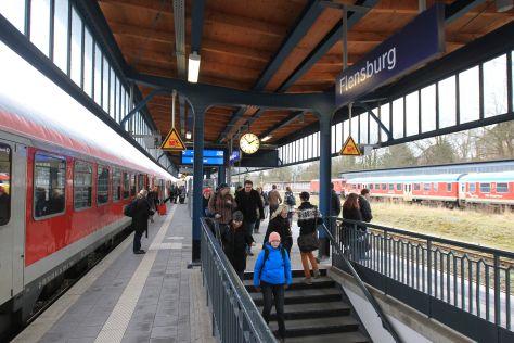 Der Flensburger Bahnhof