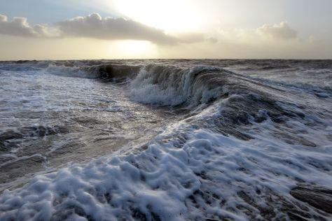 Sturmflut an der Nordsee in Dagebüll