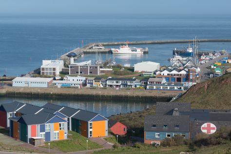 Hafen und Krankenhaus, Helgoland Helgoland