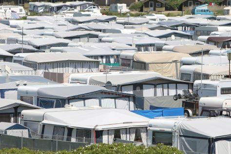 Der Campingplatz in Lakolk auf der daenischen Insel Roemoe ist einer der groeßten Daenemarks
