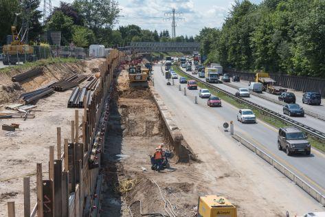 Umbau der A7 bei Kaltenkirchen