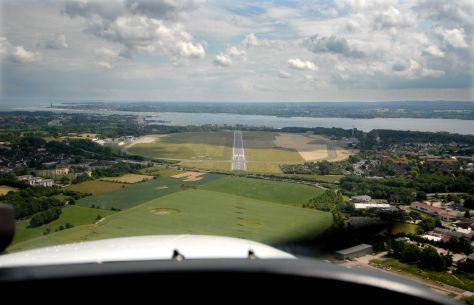 Anflug auf Kiel-Holtenau