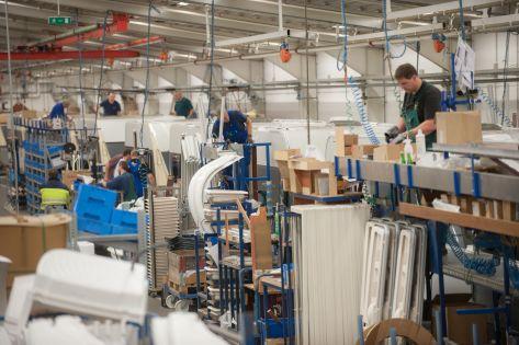 Produktion bei den HOBBY Wohnwagenwerken in Fockbek